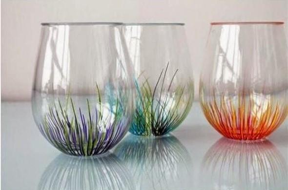 diy decoracao vasos vidro 1