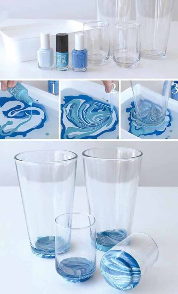 diy decoracao vasos vidro