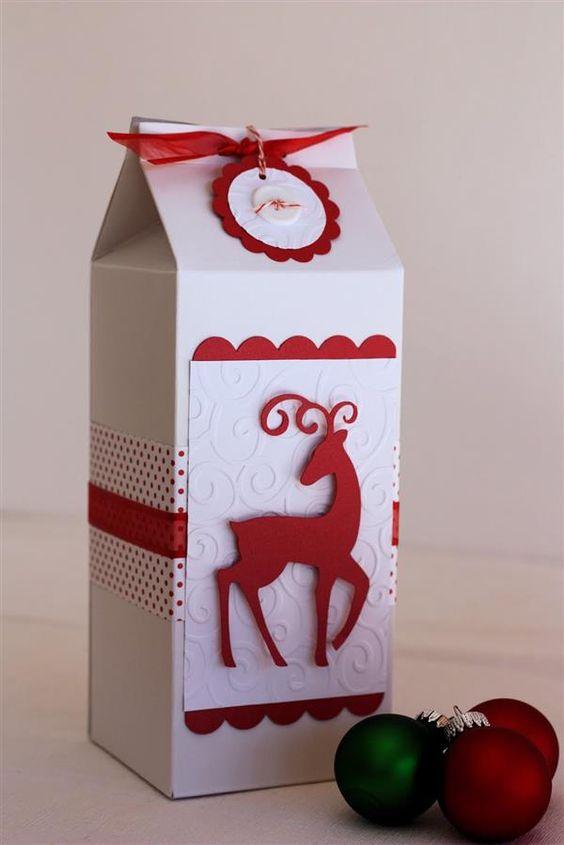 diy embrulho pacote leite 8