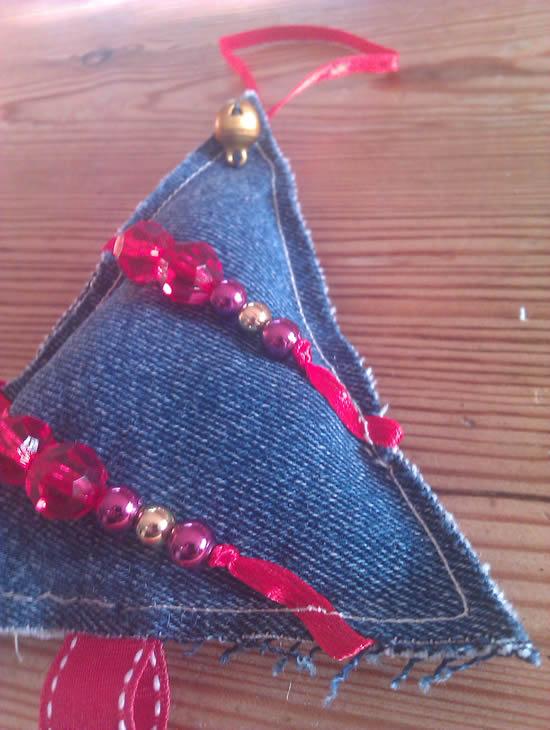 diy enfeites natal jeans arvore