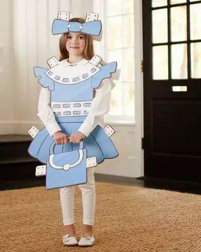 diy fantasia carnaval papelao boneca