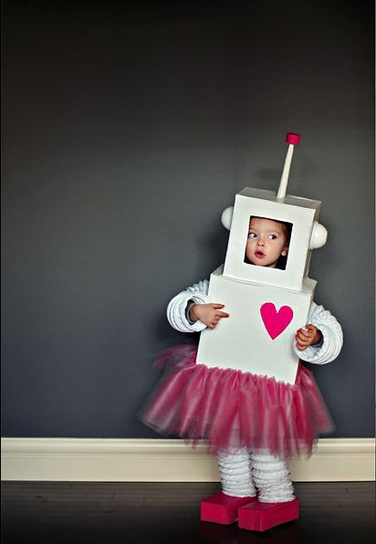 diy fantasia carnaval papelao robot