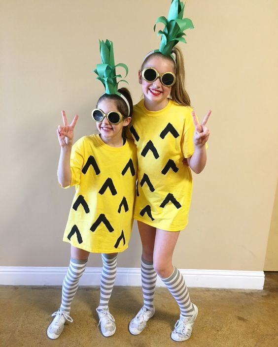 diy fantasia frutinhas abacaxi 2