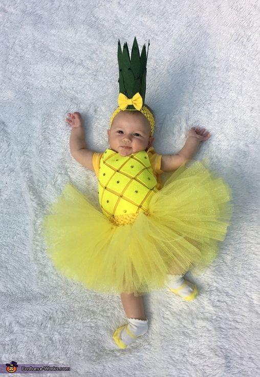 diy fantasia frutinhas abacaxi 3