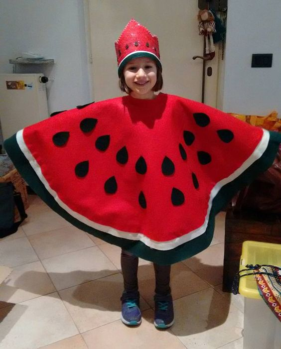diy fantasia frutinhas melancia