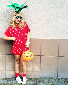 diy fantasia frutinhas morango 2