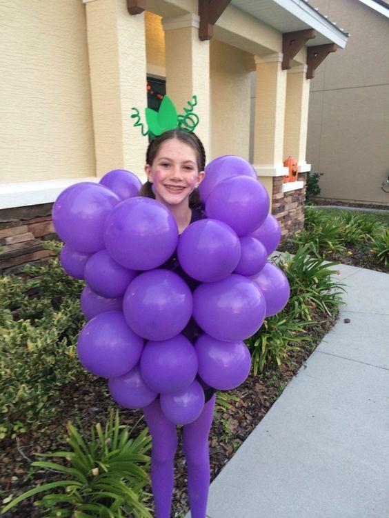 diy fantasia frutinhas uva