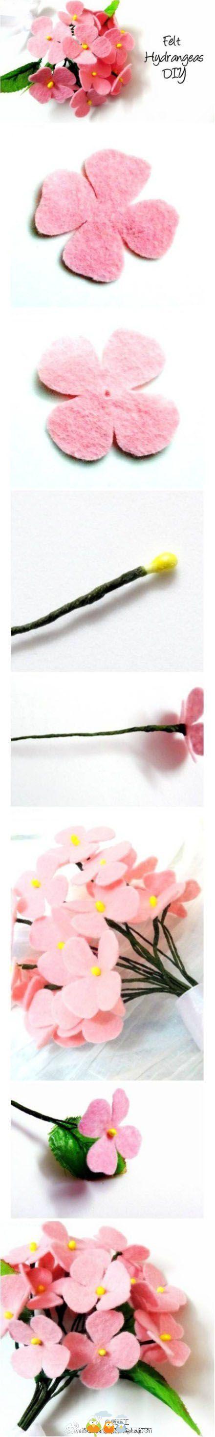 diy flores feltro