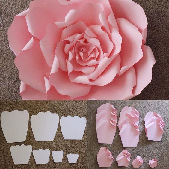 diy flores papel grandes 1