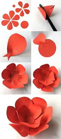 diy flores papel grandes 3