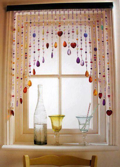 diy modelos cortinas missangas 2