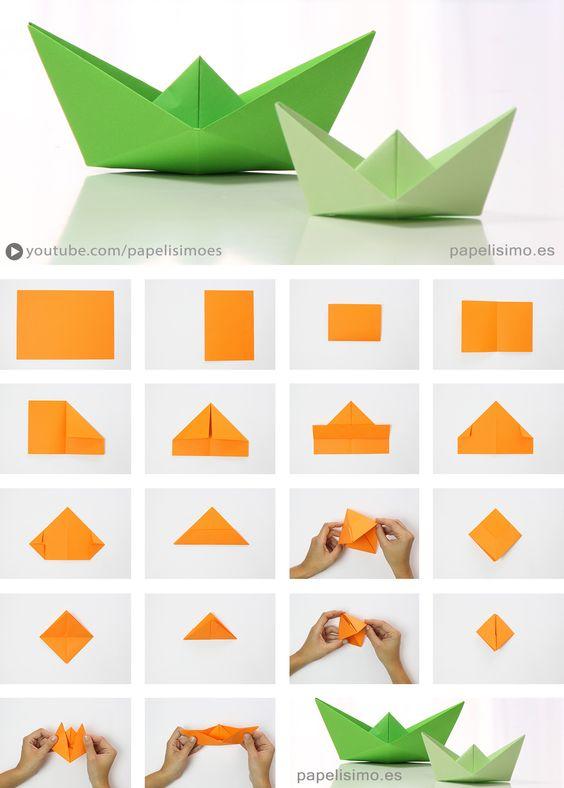 diy origami barco
