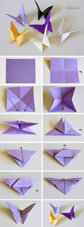 diy origami borboleta