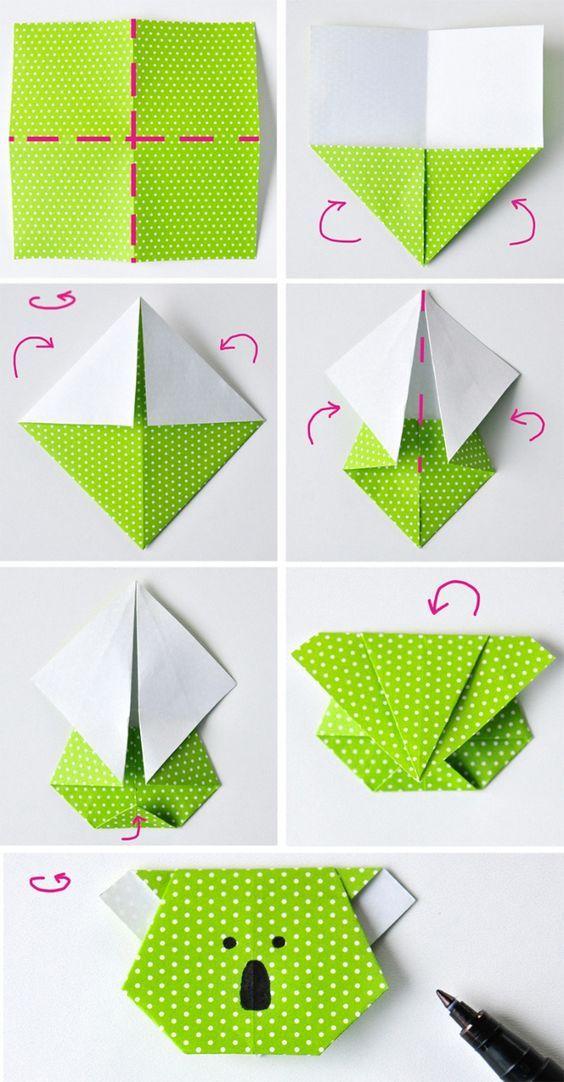 diy origami coala