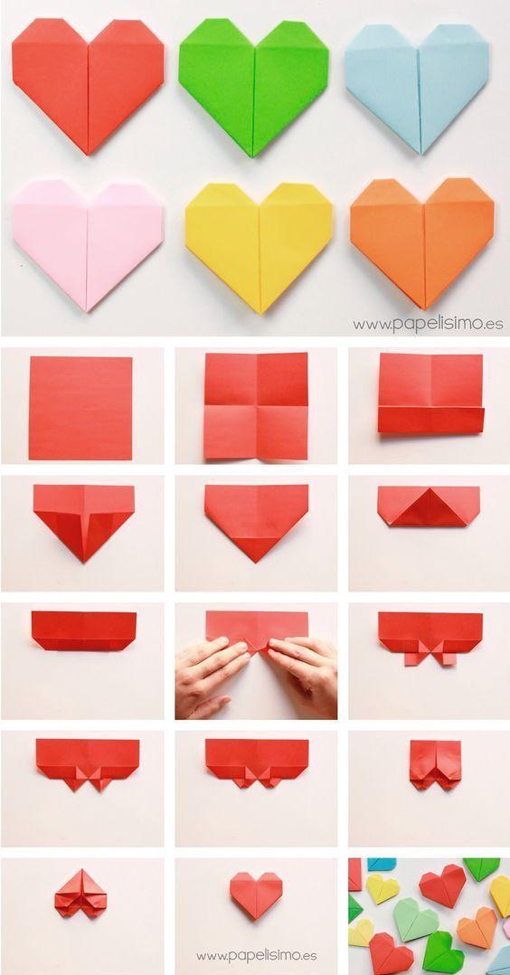 diy origami coracao