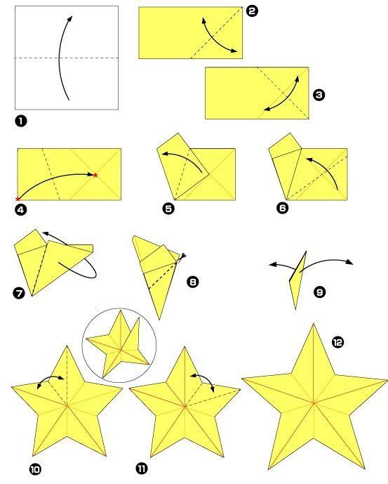 diy origami estrela
