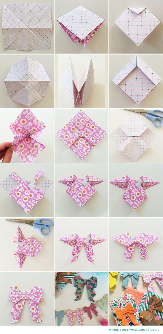 diy origami laço