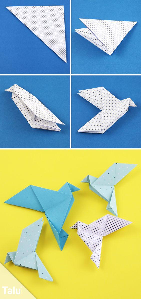 diy origami passaro
