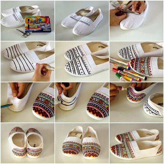 diy personalizar sapatos 9
