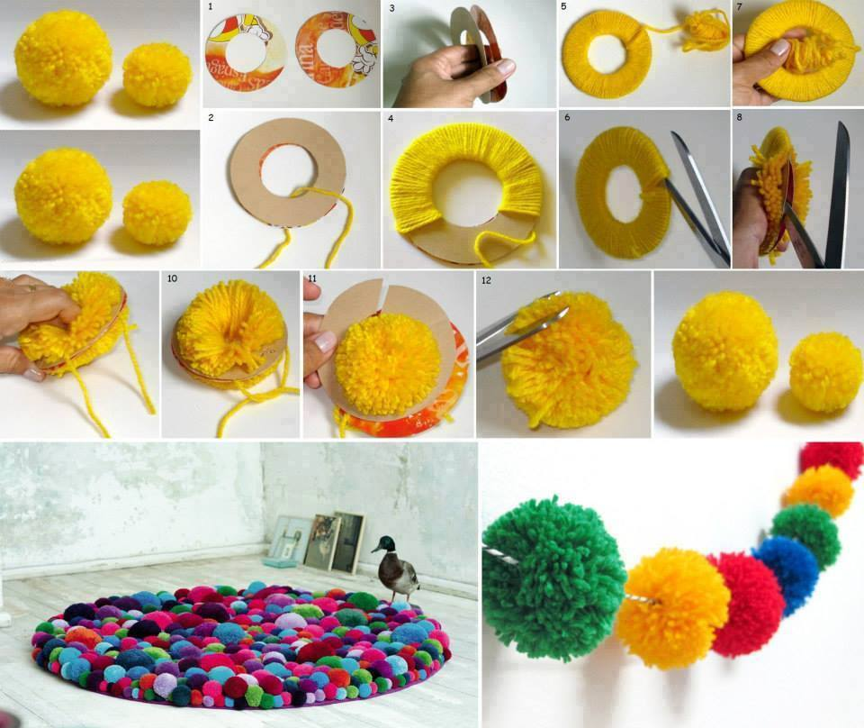 Home Decor Ideas For Navratri: Ideias Para Decorar Com Pompons ( Confira O Vídeo