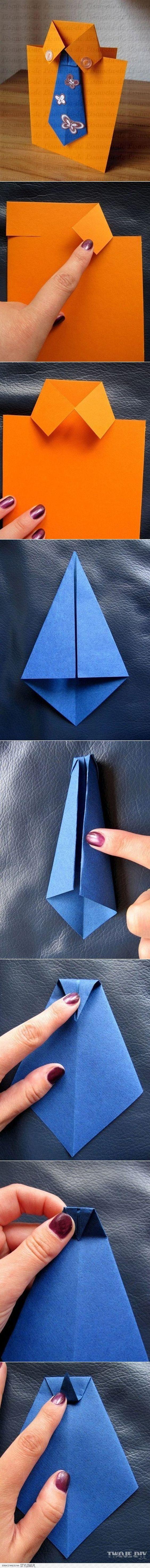 diy postal dia dos pais camisa com gravata