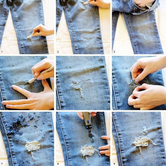 diy rasgar jeans 3