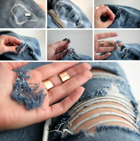 diy rasgar jeans