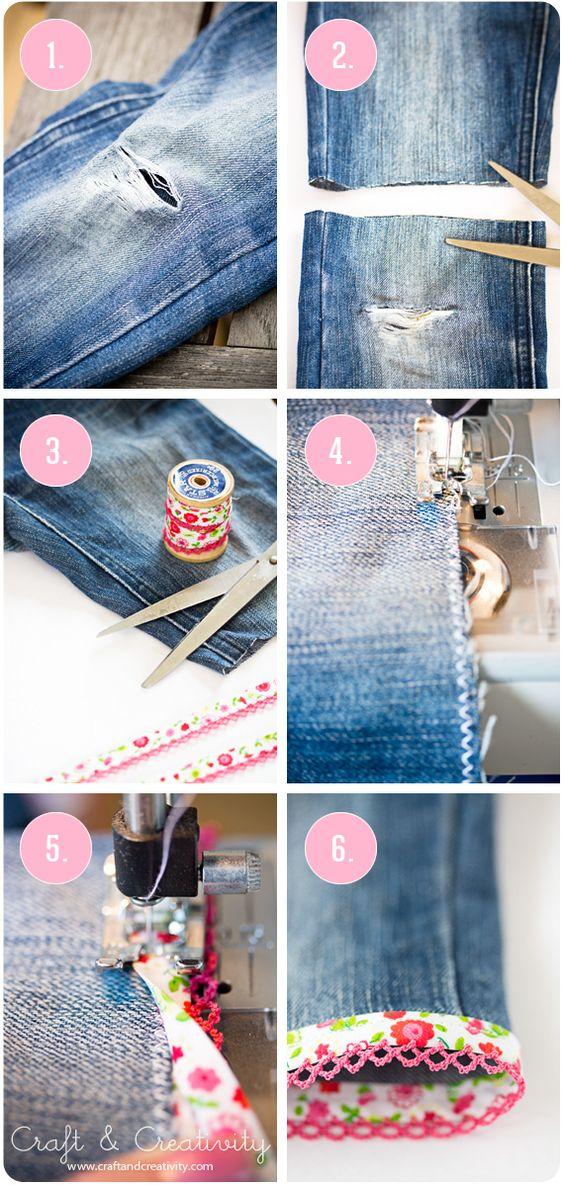 diy reciclar jeans em calçoes