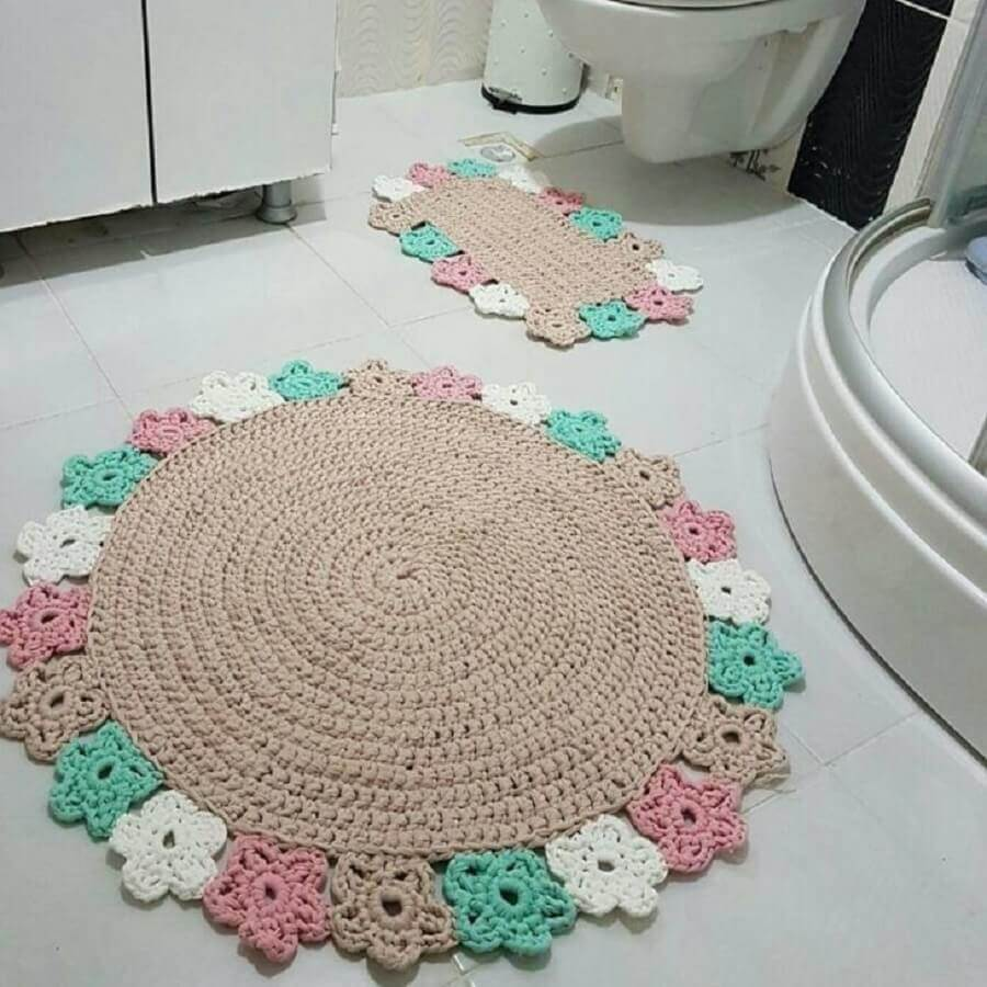 diy tapete banheiro croche 1