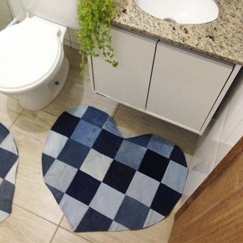 diy tapete banheiro jeans
