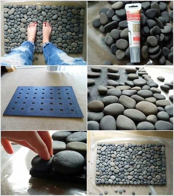 diy tapete banheiro pedras