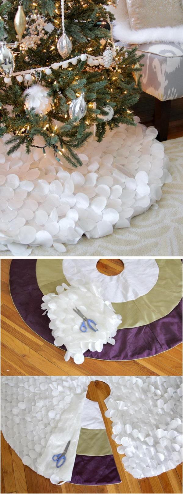 diy tapete saia arvore natal tecido