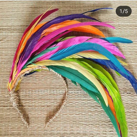 diy tiara carnaval arco iris
