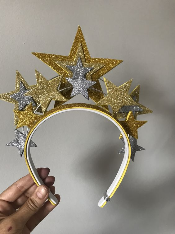 diy tiara carnaval estrelas