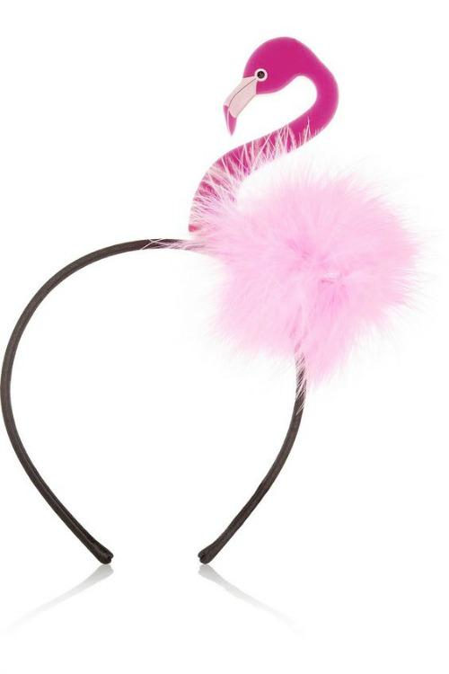 diy tiara carnaval flamingo
