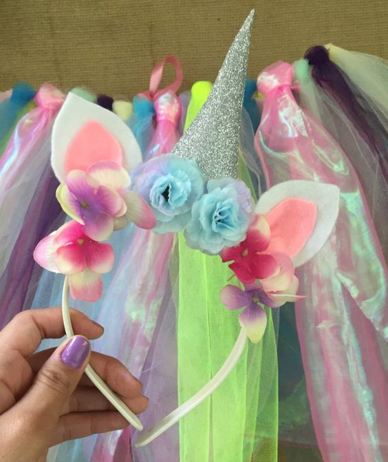 diy tiara carnaval unicornio 1