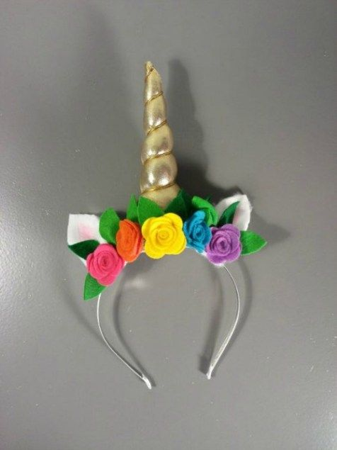 diy tiara carnaval unicornio