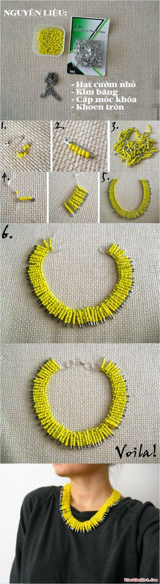 diy tutorial de colares missangas