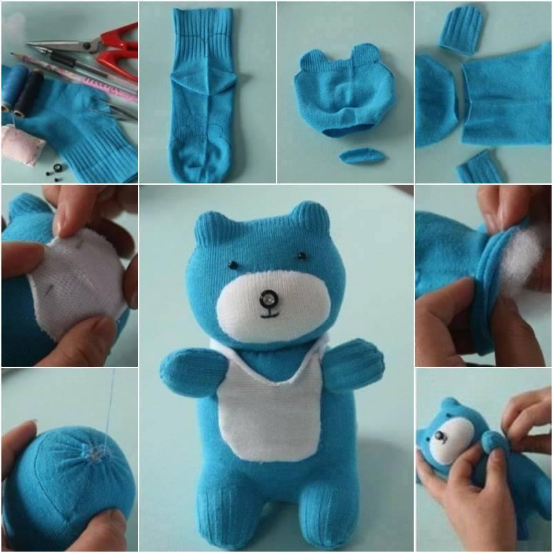 diy ursinho feito com meias