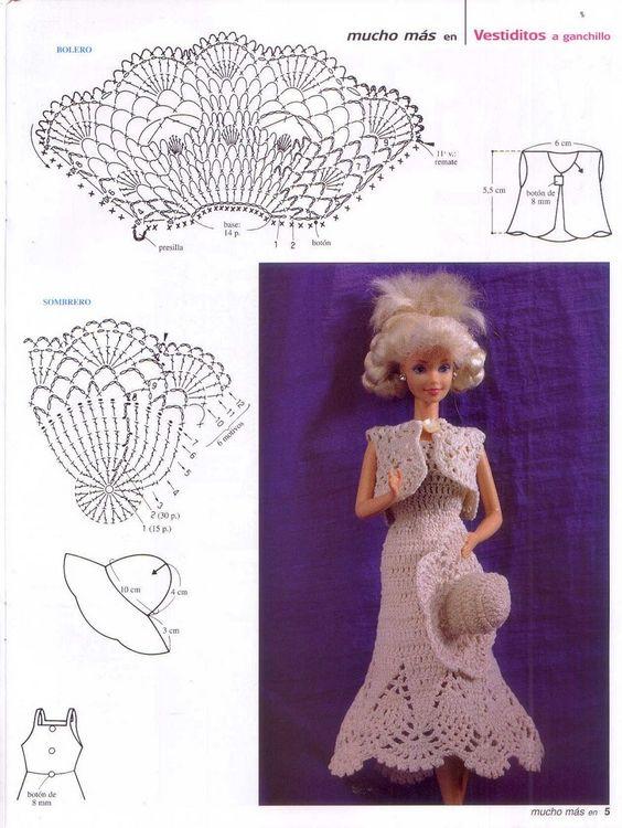 diy vestidos barbie croche 2