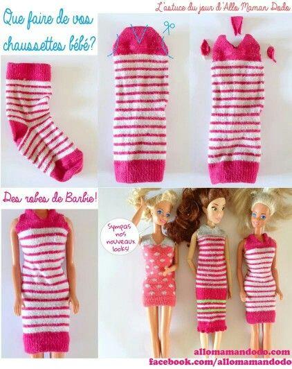 diy vestidos barbie