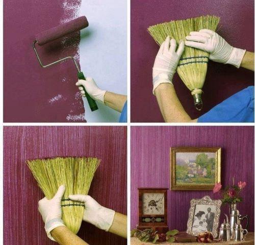 efeito de paredes com escova