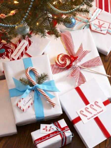embrulhos natal com doces