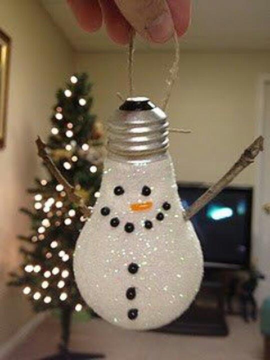 enfeite boneco neve com lampada