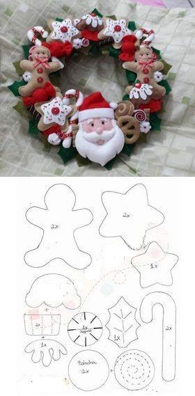 enfeites natal feltro 10