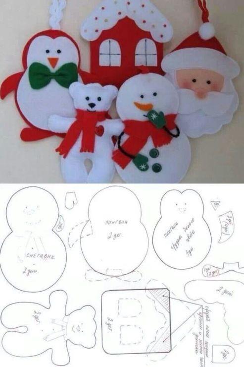 enfeites natal feltro 8