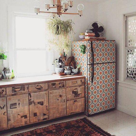 envelopamento geladeira vintage q