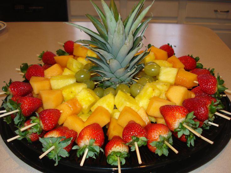 espetadas de fruta festa