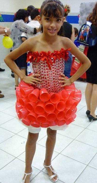 fantasia carnaval reciclado
