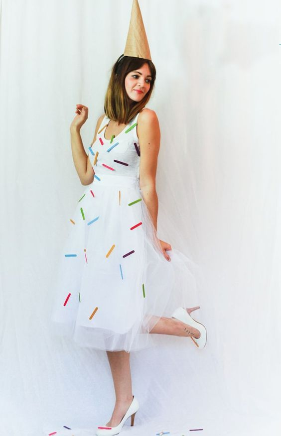 fantasia feminina carnaval criativa sorvete